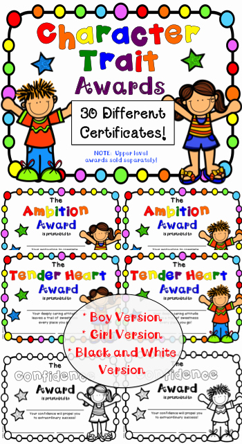 Preschool Graduation Awards Ideas Fresh End Of Year Awards Character Traits Awards for Lower