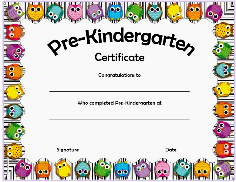 Preschool Graduation Certificate Editable Beautiful 10 Free Editable Pre K Graduation Certificates [word Pdf]