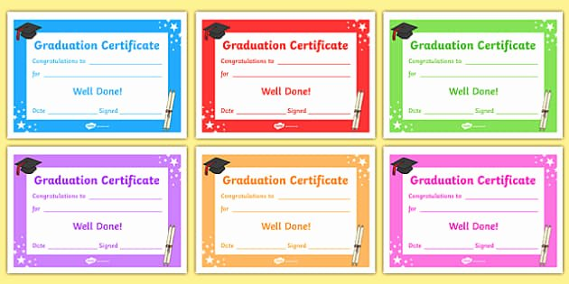 Preschool Graduation Certificate Editable Elegant Editable Graduation Certificates Primary Certificates and
