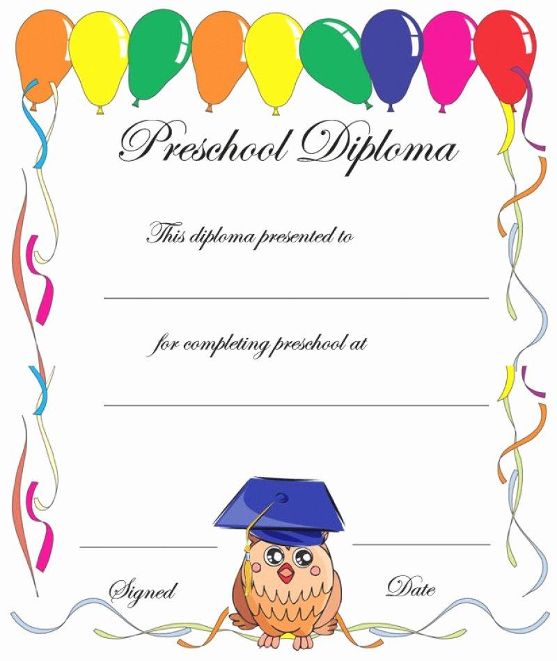 Preschool Graduation Certificate Template Awesome 11 Preschool Certificate Templates Pdf