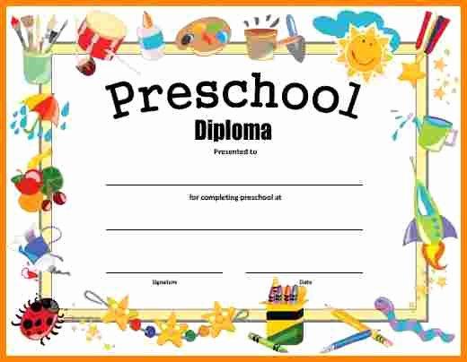Preschool Graduation Certificate Template Awesome Free Printable Preschool Graduation Certificates – Planner