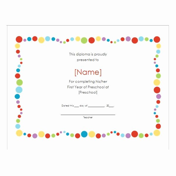 Preschool Graduation Certificate Template Elegant How to Create Certificates with Microsoft Word Microsoft