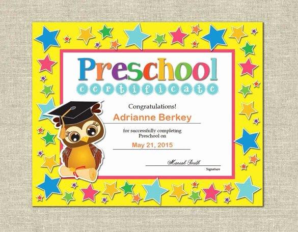 Preschool Graduation Certificate Template Fresh 17 Best Ideas About Free Certificate Templates On
