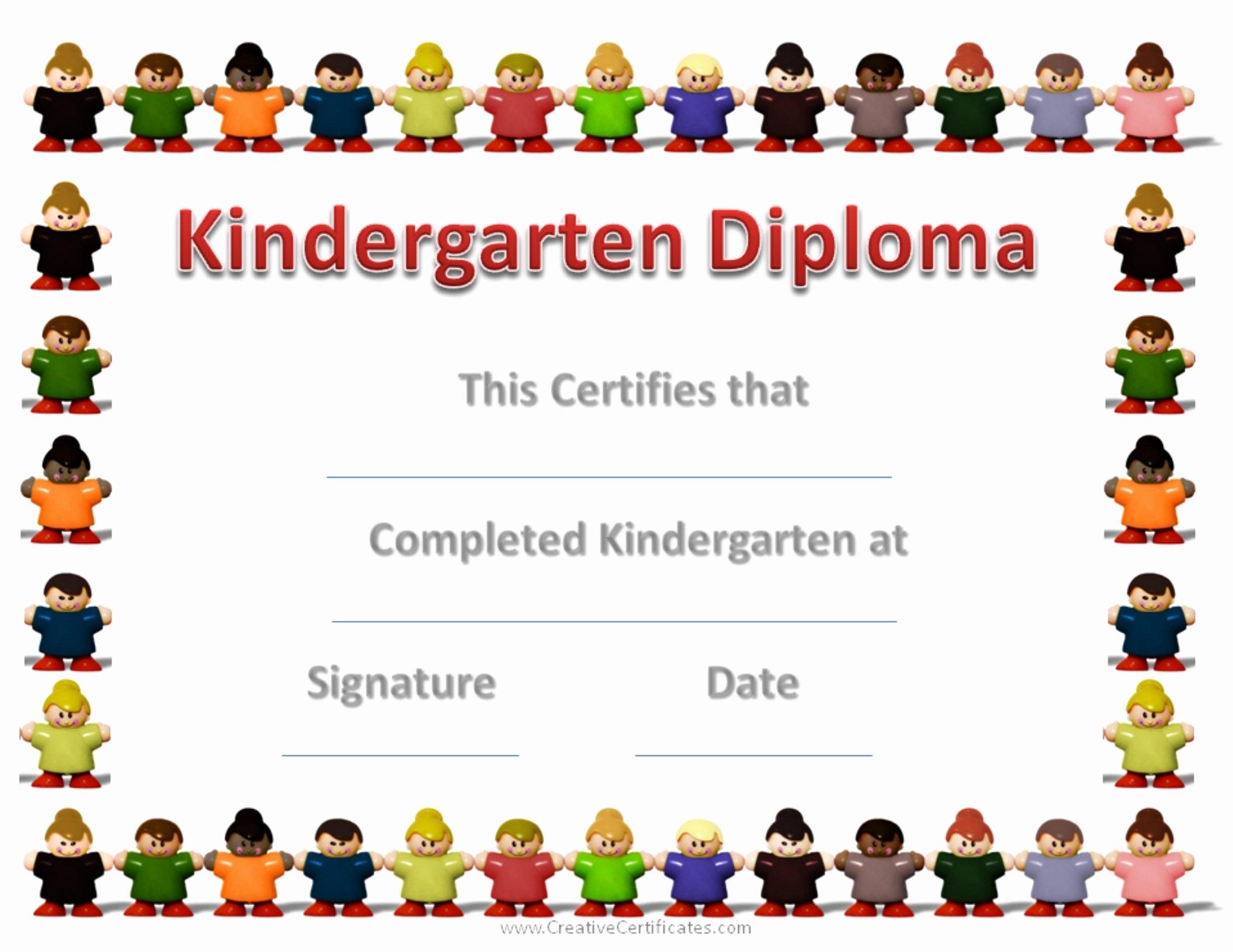 Preschool Graduation Certificate Template Fresh Certificate Kindergarten