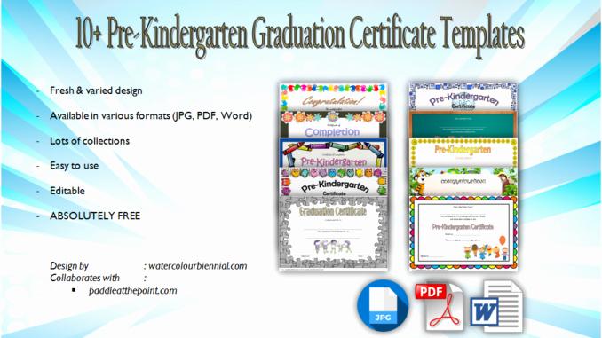 Preschool Graduation Certificate Template Lovely 10 Free Editable Pre K Graduation Certificates [word Pdf]