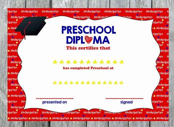 Preschool Graduation Certificate Template Unique Free 9 Graduation Certificate Templates In Samples