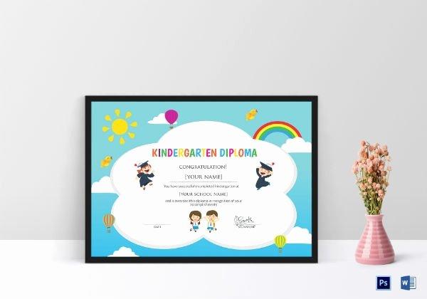 Preschool Graduation Certificate Templates Beautiful 10 Kindergarten Certificate Templates Illustrator