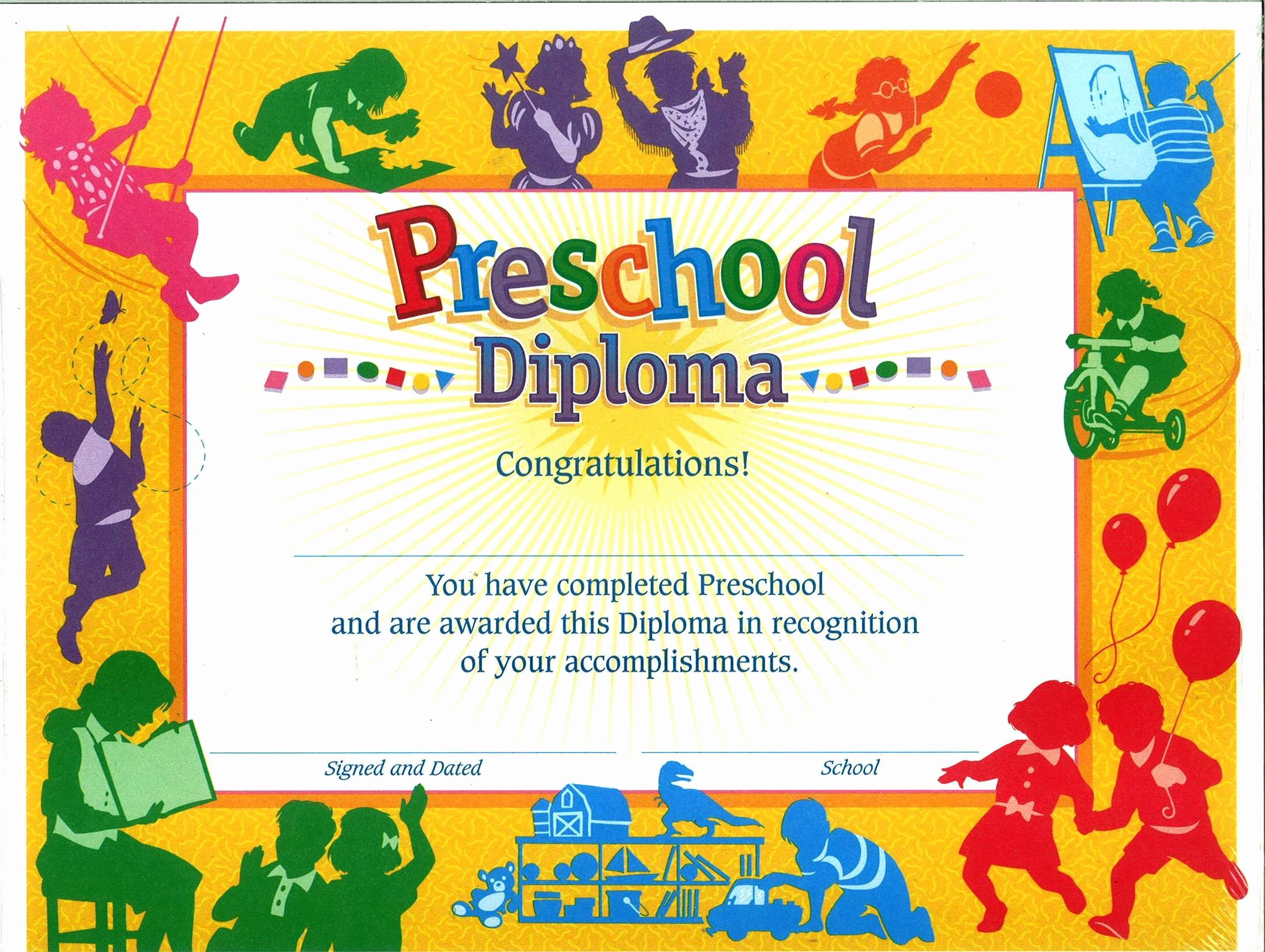Preschool Graduation Certificate Templates Free Awesome 11 Preschool Certificate Templates Pdf