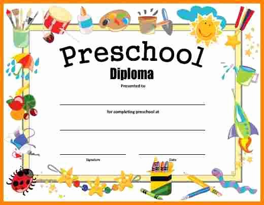 Preschool Graduation Certificate Templates Free Awesome Free Printable Preschool Graduation Certificates