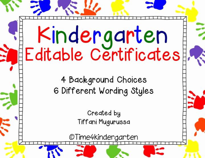 Preschool Graduation Certificate Templates Free Awesome Kindergarten Pletion Certificates