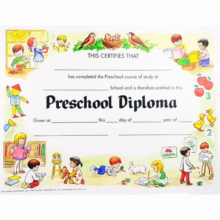 Preschool Graduation Certificate Templates Free Elegant Preschool Graduation Certificates
