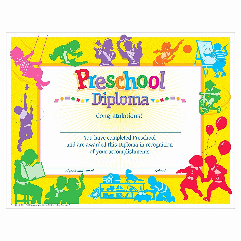 Preschool Graduation Certificate Templates Fresh Preschool Graduation Diploma 30 Count Ctt Graphics