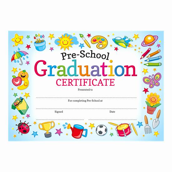 Preschool Graduation Certificate Templates Unique Pre School Graduation Certificate