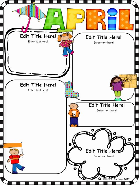 Preschool Newsletter Template Editable Best Of Kinder Alphabet