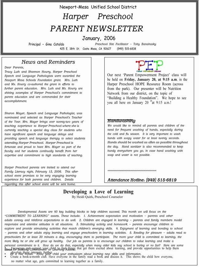 Preschool Newsletter Template Editable Elegant 16 Preschool Newsletter Templates Easily Editable and