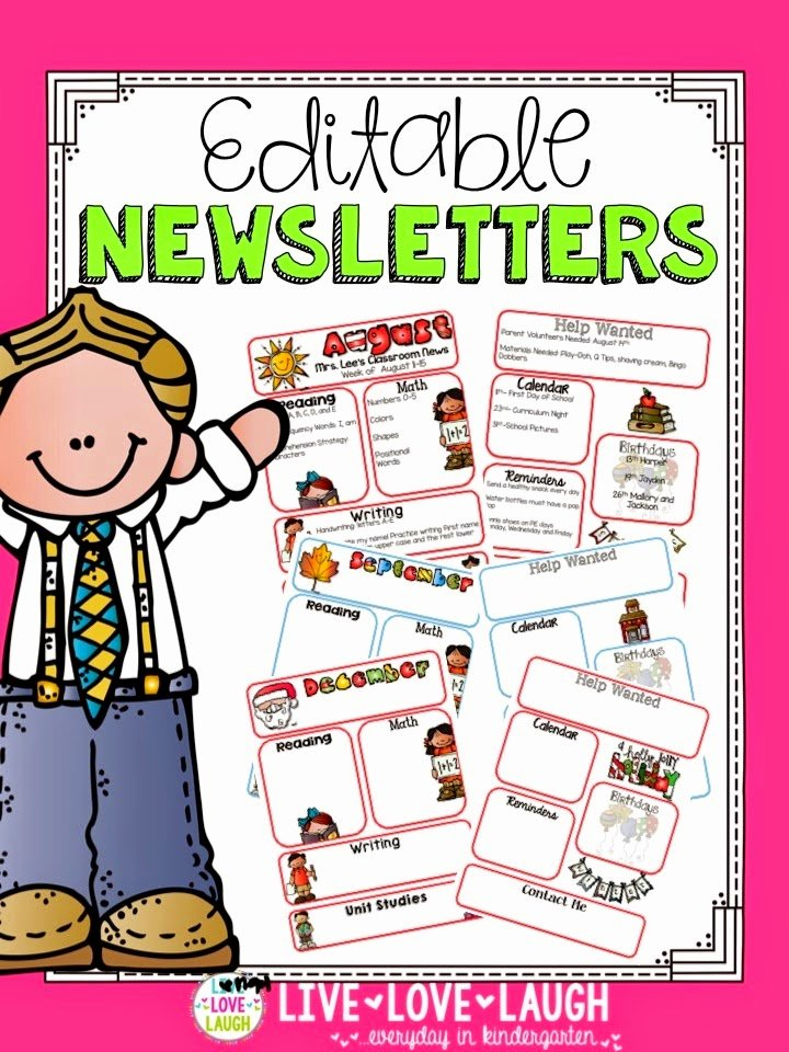 Preschool Newsletter Template Editable Fresh Sharing Kindergarten Tech Tuesday Camera Upload Feature