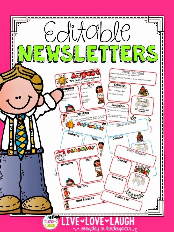 Preschool Newsletter Template Editable Fresh Sharing Kindergarten Tech Tuesday Camera Upload Feature