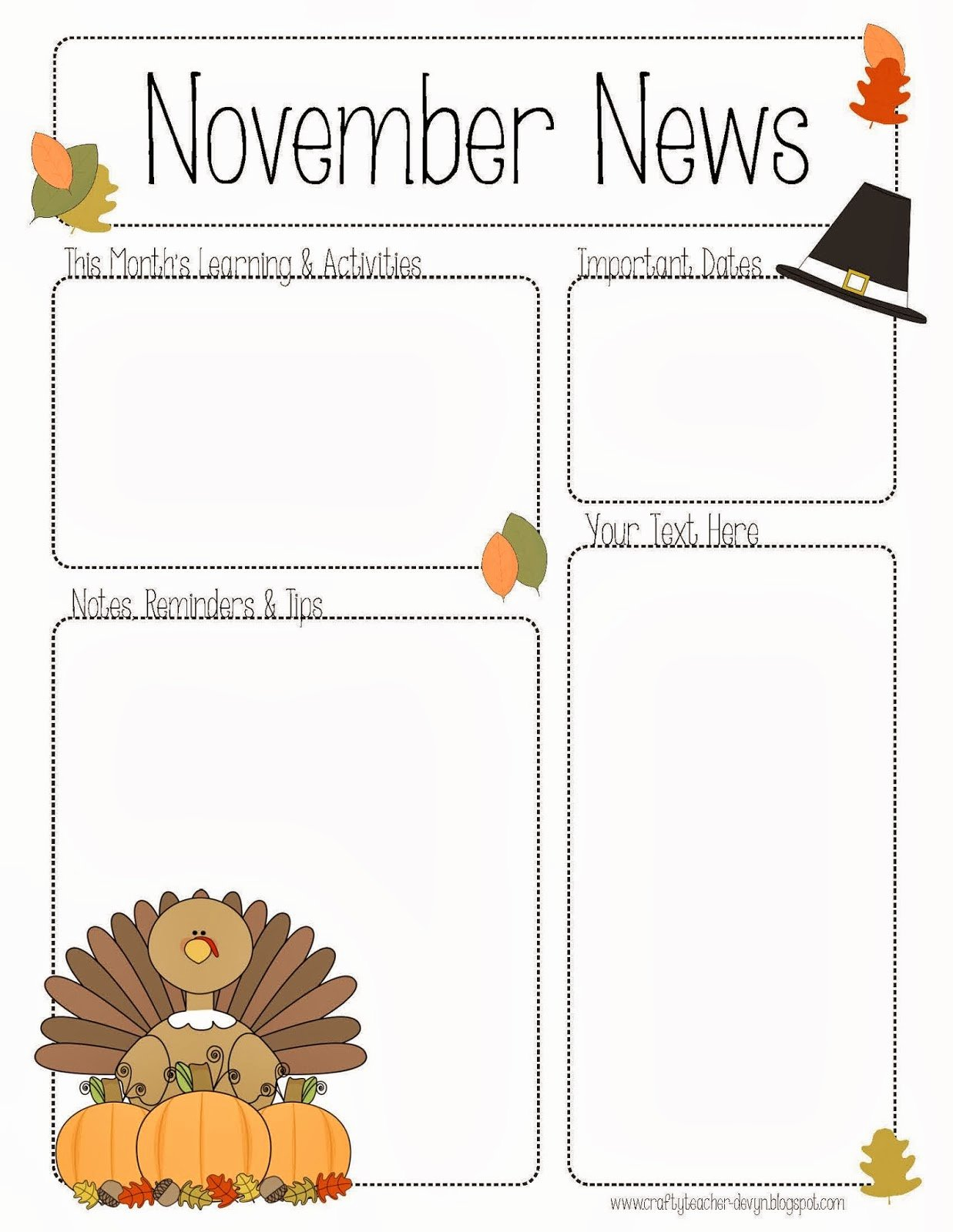 Preschool Newsletter Template Editable Inspirational November Newsletter for Preschool Pre K Kindergarten