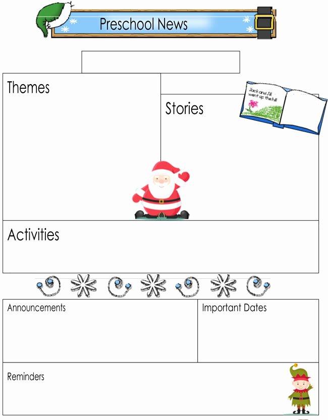 Preschool Newsletter Template Editable Lovely 16 Preschool Newsletter Templates Easily Editable and