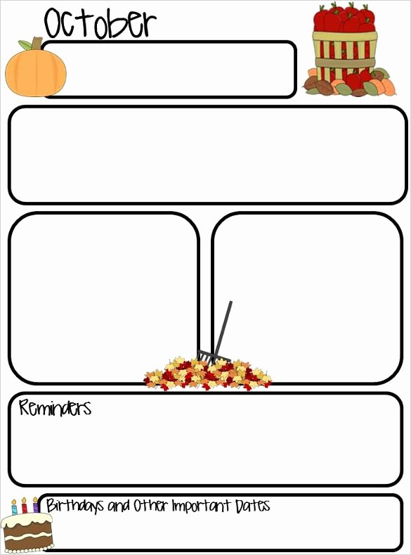 Preschool Newsletter Template Editable New October Preschool Newsletter Template