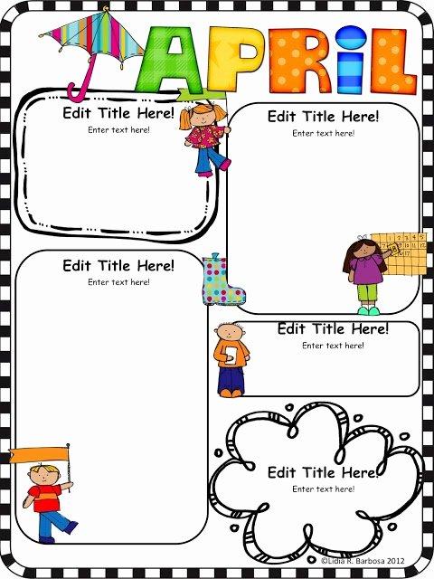 Preschool Newsletter Template Editable Unique 17 Best Ideas About Preschool Newsletter Templates On