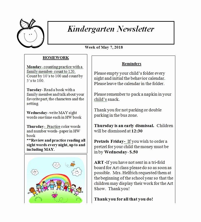 Preschool Newsletter Template Free Beautiful 50 Creative Preschool Newsletter Templates Tips