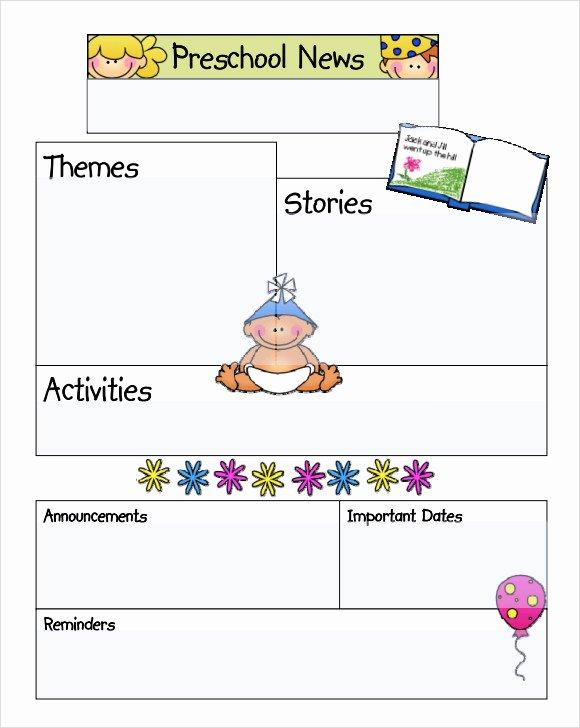 Preschool Newsletter Template Free Beautiful Sample Kindergarten Newsletter Template 15 Free