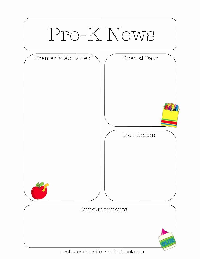 Preschool Newsletter Template Free Best Of Newsletter Templates