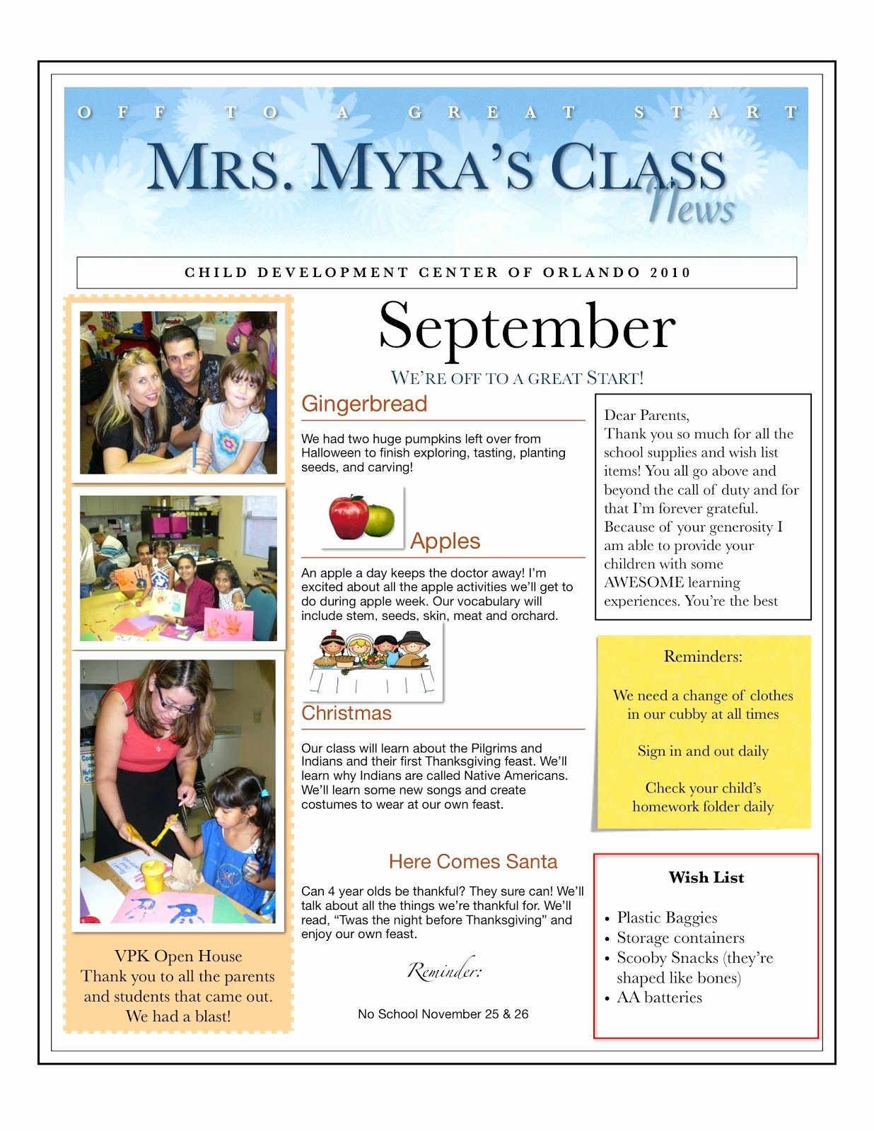 Preschool Newsletter Template Word Beautiful when I Taught Preschool for My Church It Was Mandatory to