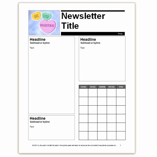Preschool Newsletter Template Word Fresh where to Find Free Church Newsletters Templates for