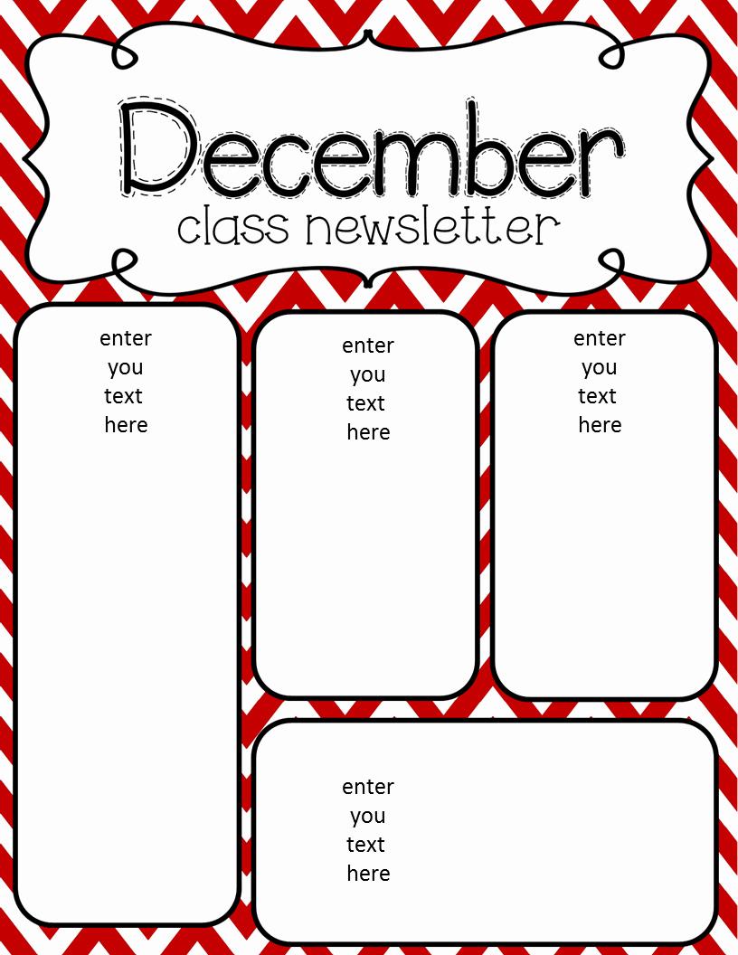 Preschool Newsletter Templates Free Beautiful Simply Delightful In 2nd Grade December Newsletter Freebie