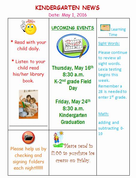 Preschool Newsletter Templates Free Best Of Kindergarten Newsletter Template 3 Free Newsletters