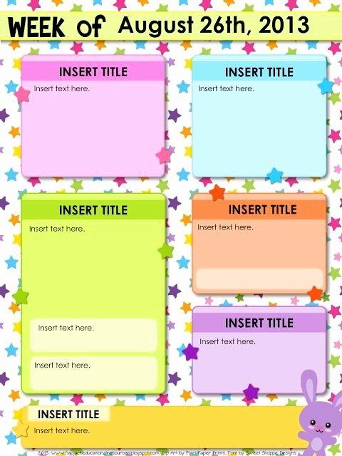Preschool Newsletter Templates Free Inspirational Free Editable Newsletter Template …
