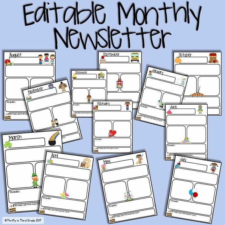Preschool Newsletter Templates Free Luxury the 25 Best Preschool Newsletter Ideas On Pinterest