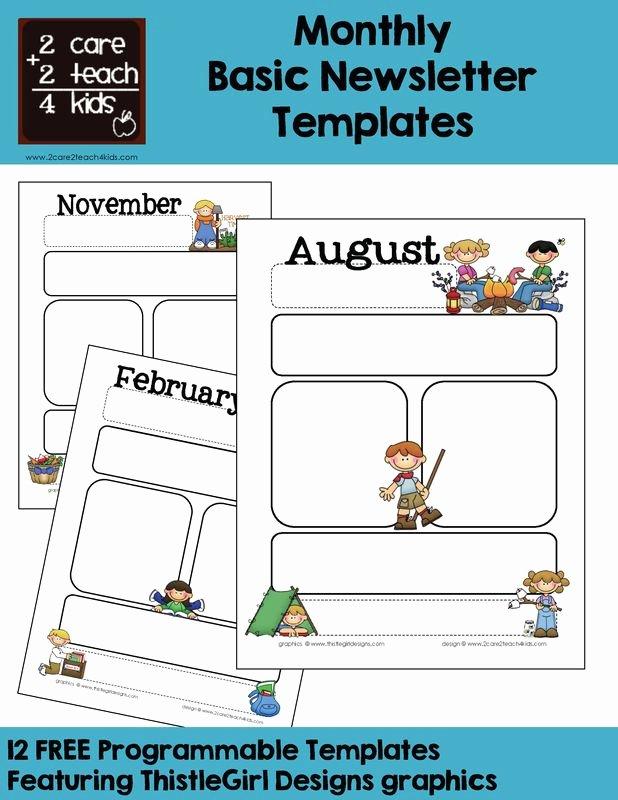 Preschool Weekly Newsletter Templates Beautiful Monthly Templates Calendars Pinterest
