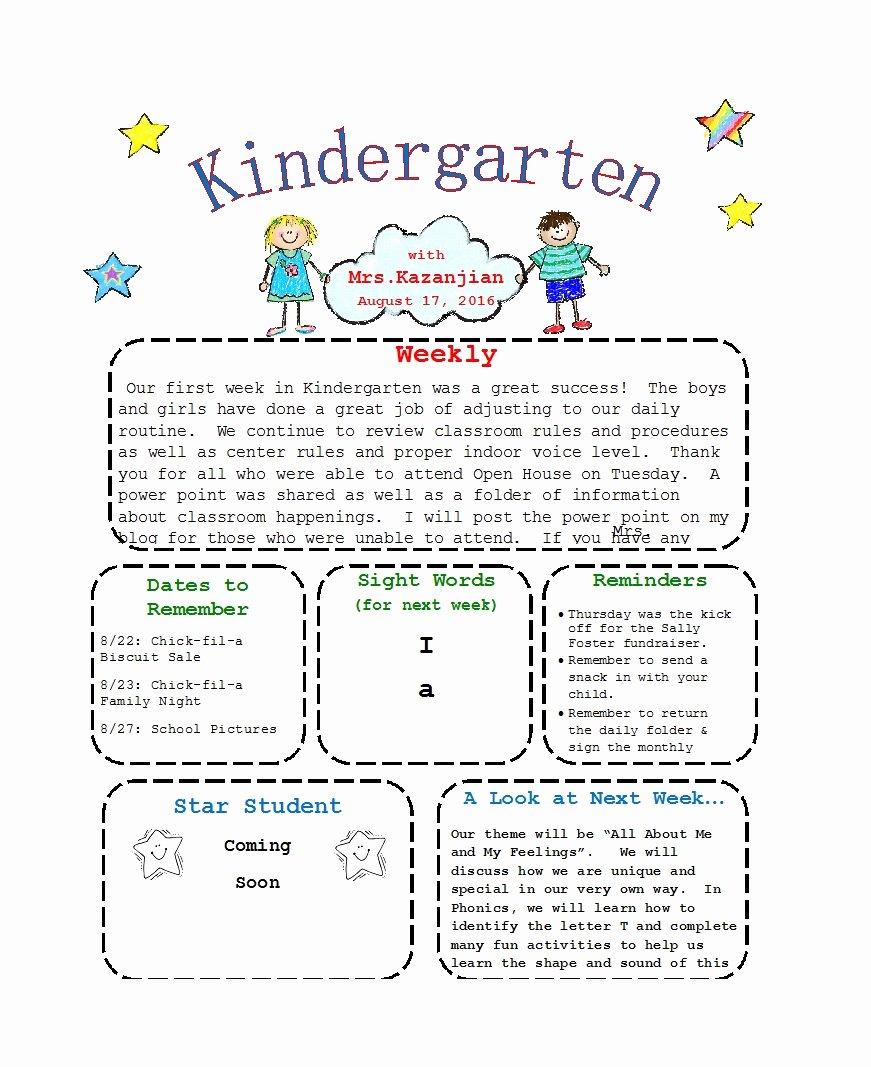Preschool Weekly Newsletter Templates Inspirational 50 Creative Preschool Newsletter Templates Tips