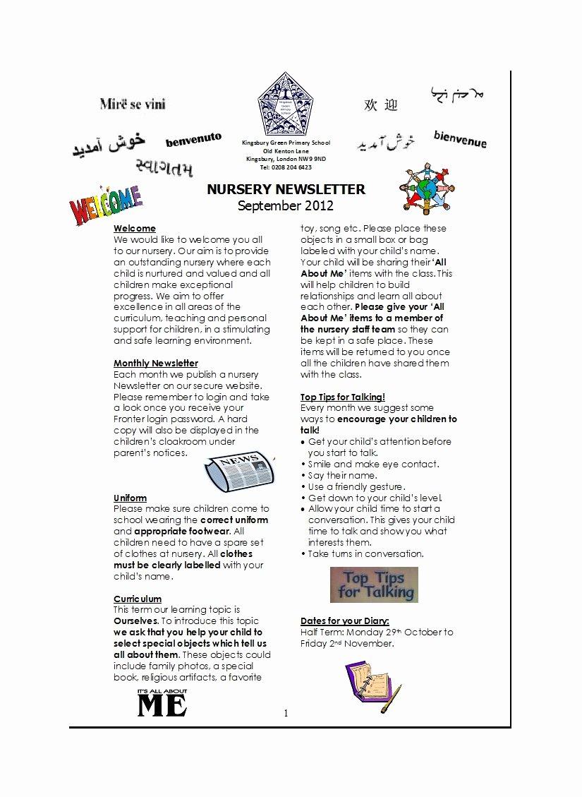 Preschool Weekly Newsletter Templates Luxury 50 Creative Preschool Newsletter Templates Tips