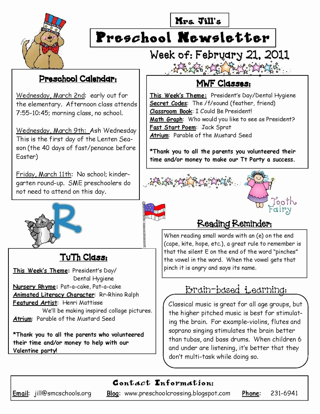 Preschool Weekly Newsletter Templates Unique Preschool Crossing Here is An Example Of My Weekly Newsletter