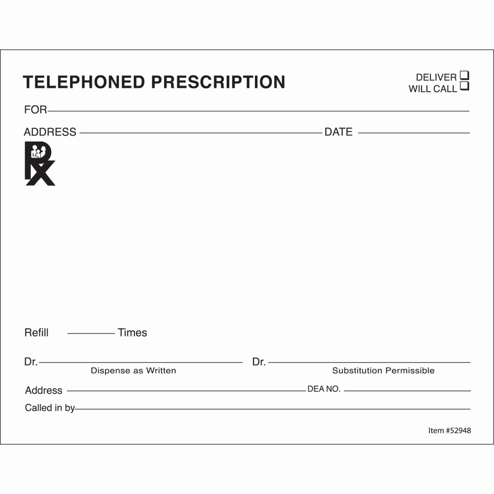Prescription Pad Template Inspirational 14 Prescription Templates Doctor Pharmacy Medical
