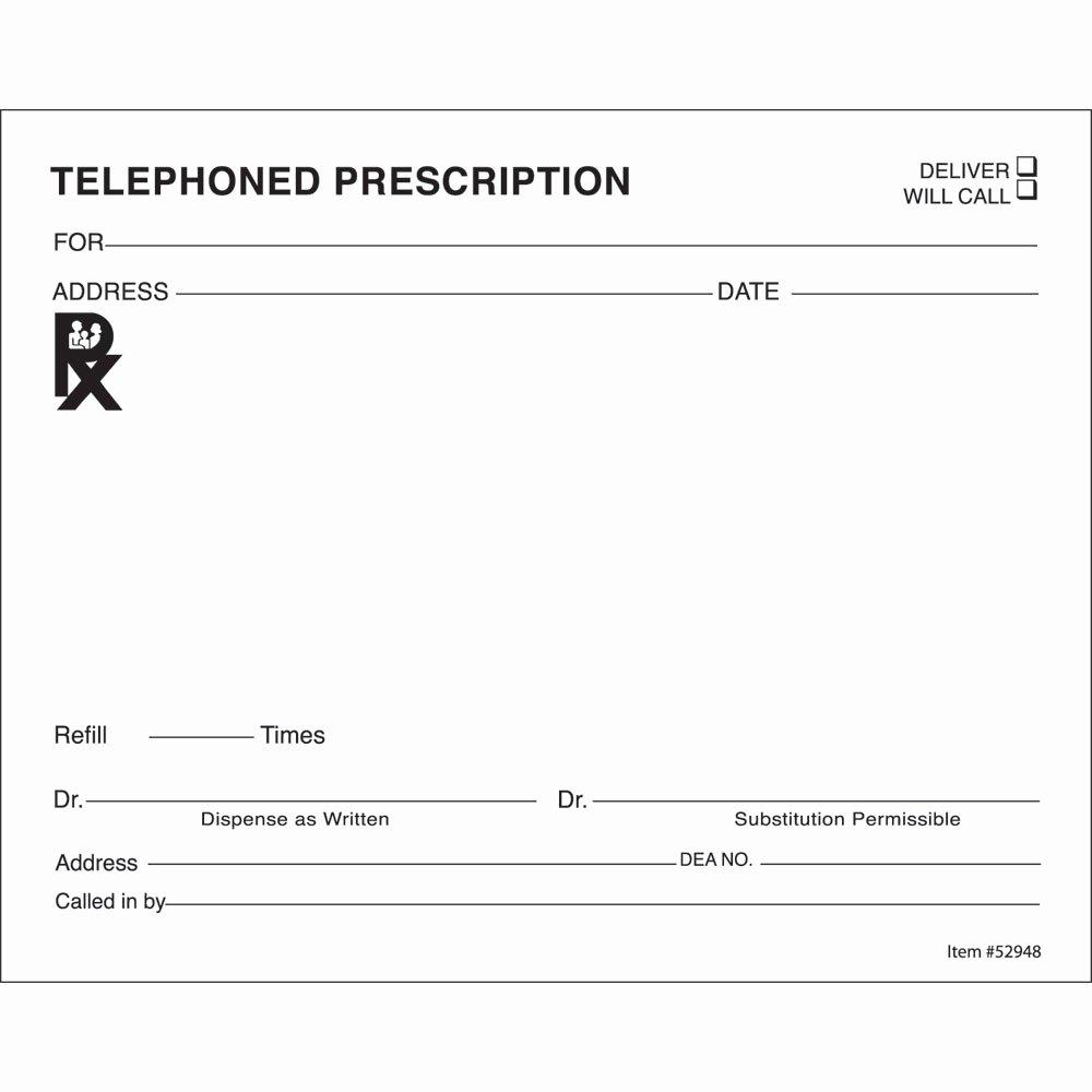prescription templates