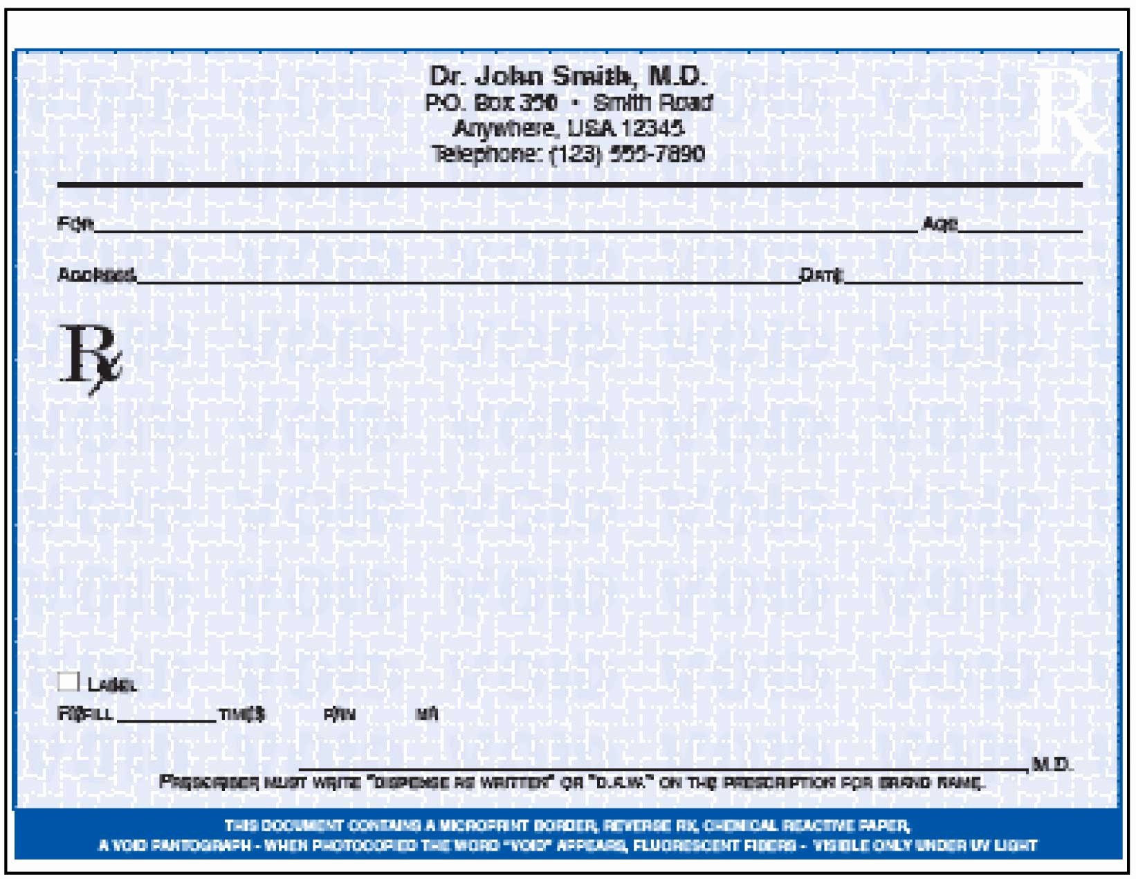 Prescription Pad Template Microsoft Word Best Of Custom Index Tabs Medical Shelving