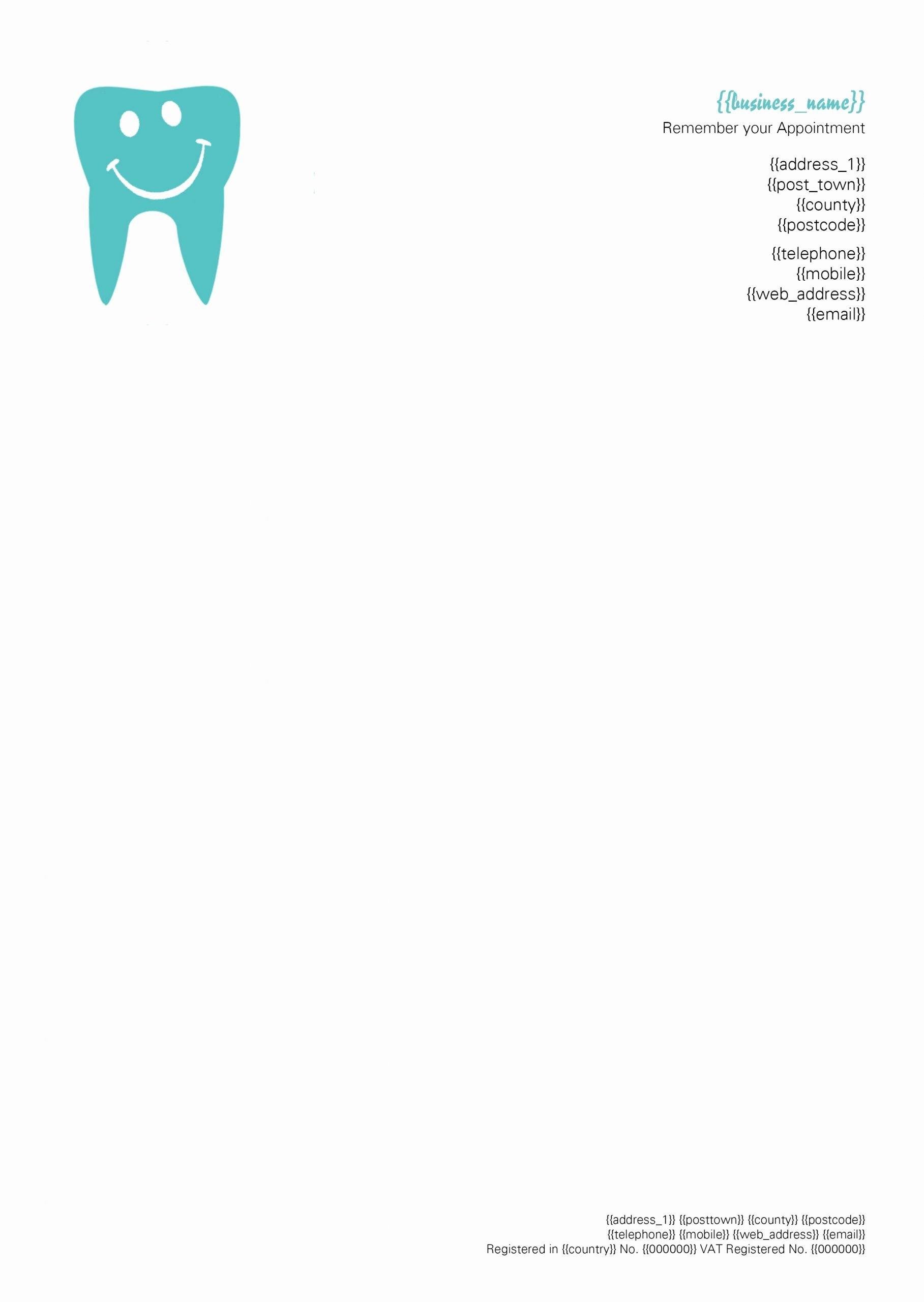 Prescription Pad Template Microsoft Word Best Of Dentist Letterhead … Dental Clinic Ideas