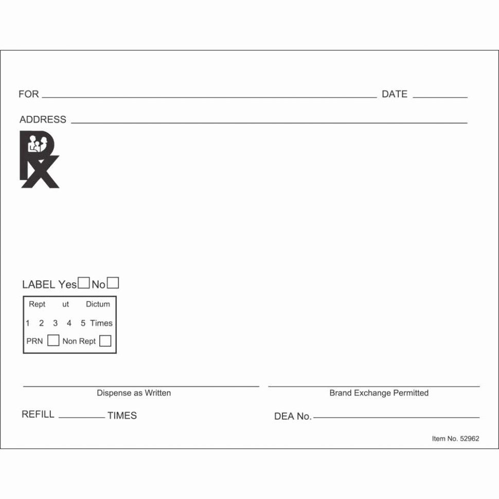 Prescription Pad Template Microsoft Word Inspirational Prescription Label Template Microsoft Word