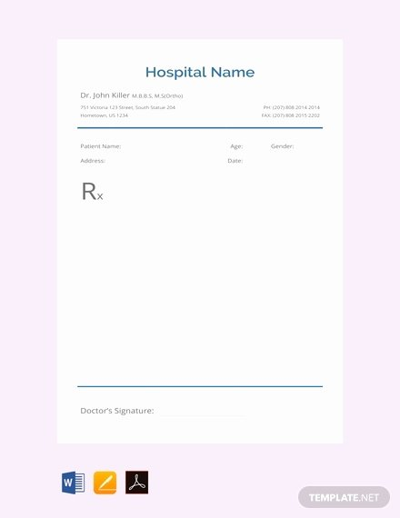 Prescription Pad Template New Great Prescription Pad Template Gallery tommynee