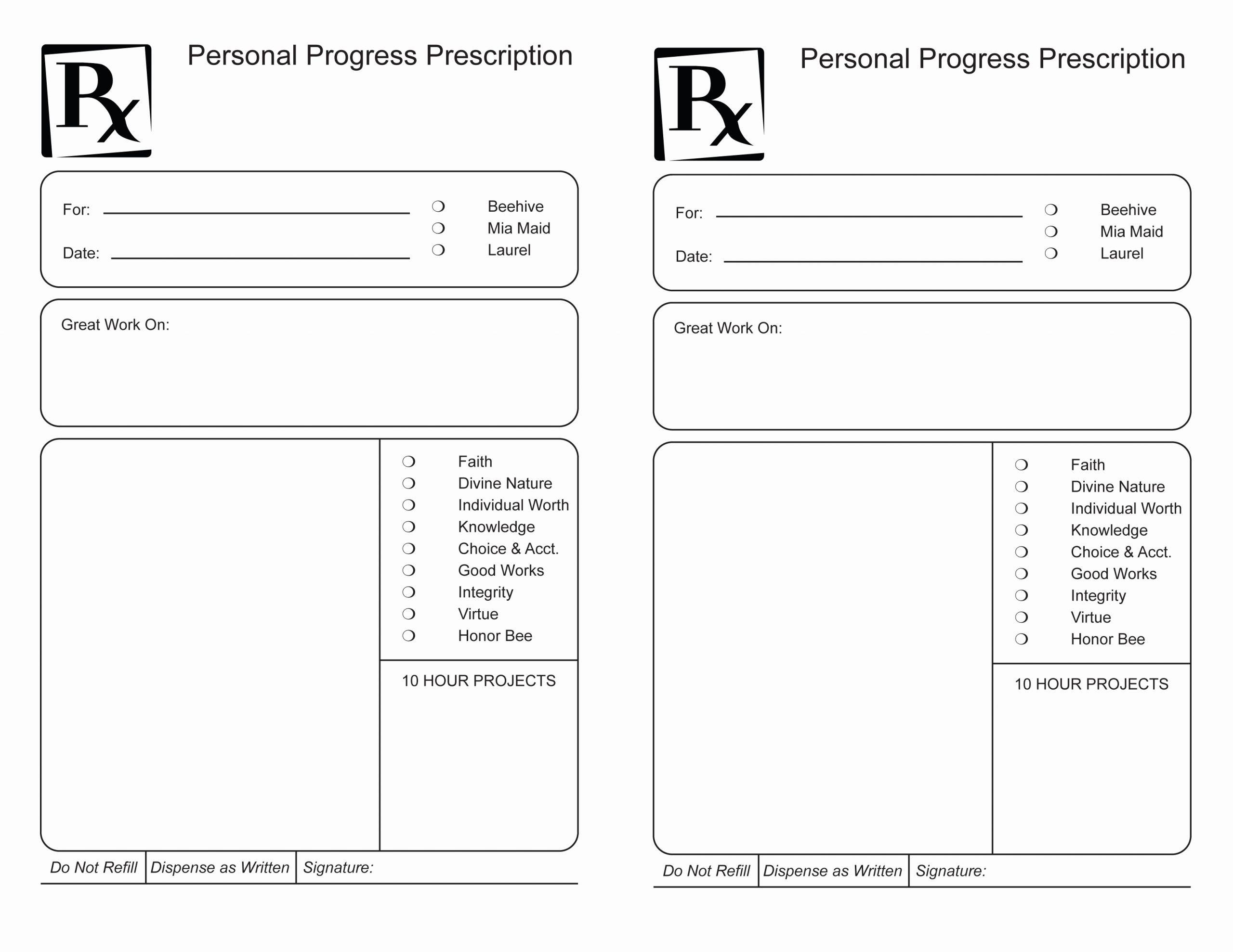 Prescription Pad Template Unique Personal Progress Prescription Pad – the Gospel Home