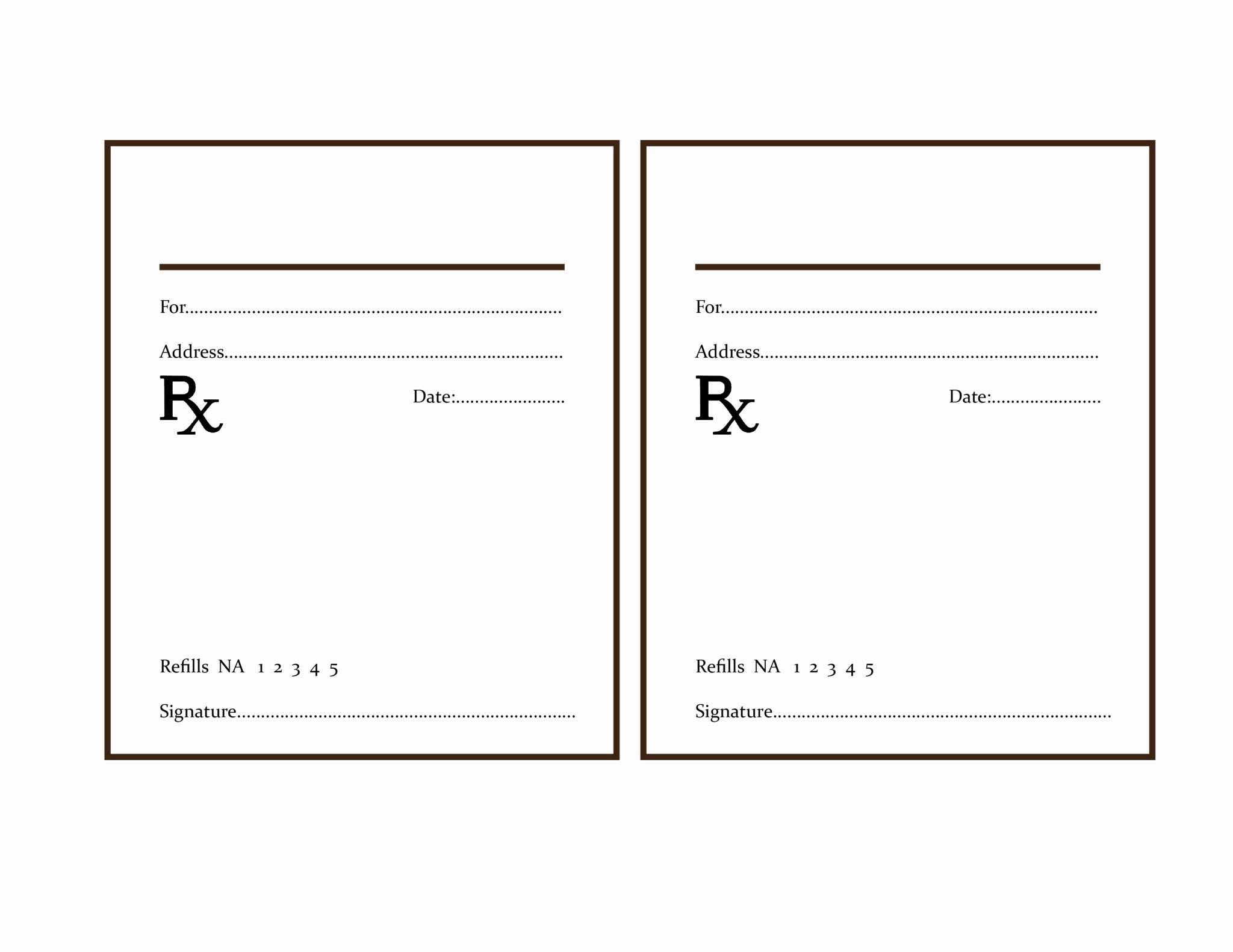 Prescription Pad Template Unique the Delight Of Paper