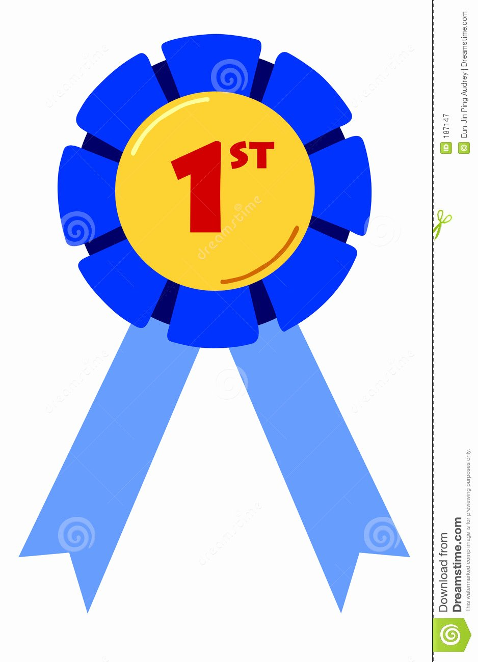 Printable 1st 2nd 3rd Place Ribbons Awesome First Placing Ribbon Stock Illustration Illustration Of