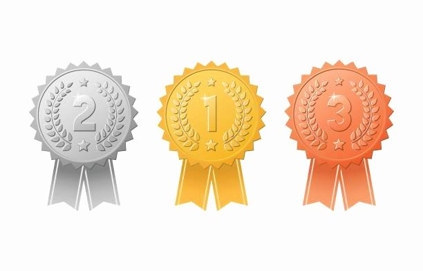 Printable 1st 2nd 3rd Place Ribbons Beautiful Best Second Place Illustrations Royalty Free Vector