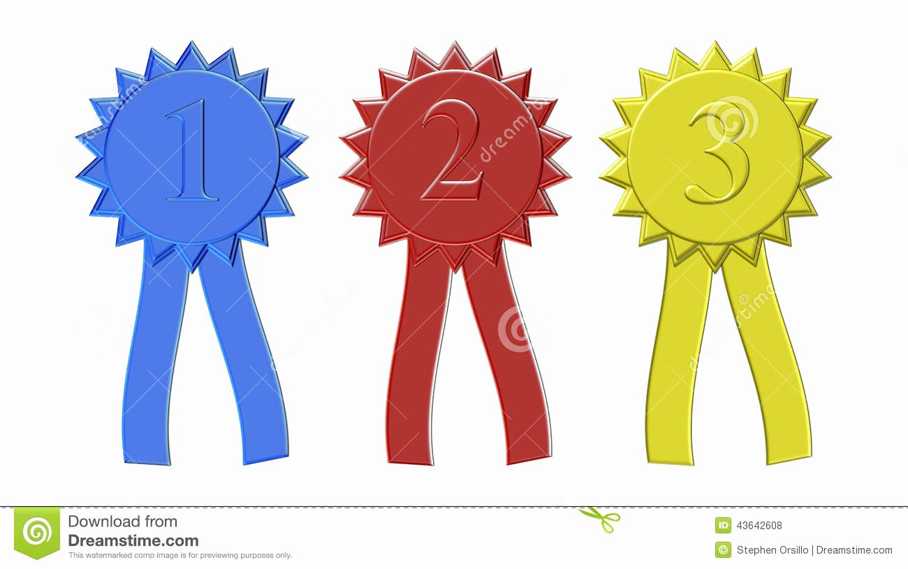 Printable 1st 2nd 3rd Place Ribbons Inspirational First Second and Third Place Award Ribbons Stock