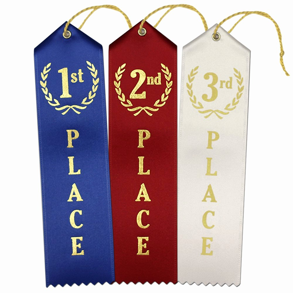 Printable 1st 2nd 3rd Place Ribbons Unique 1st 2nd 3rd Place Premium Award Ribbons 75 Count Value